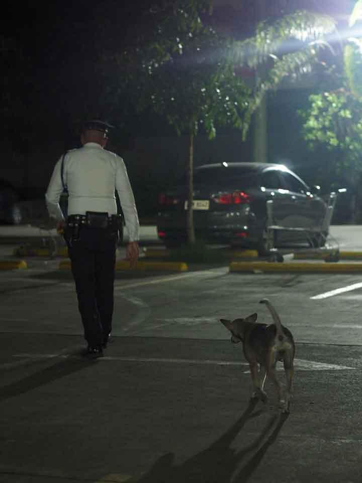 Mall Security Guard Danilo Reyeg and Franci