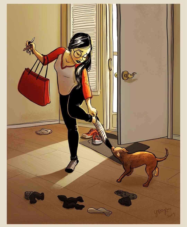 Yaoyao Ma Van As Parker pet dog illustartions love