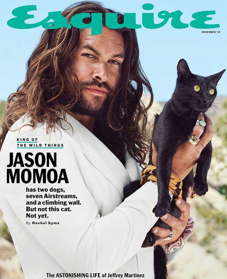 Jason Momoa black cat