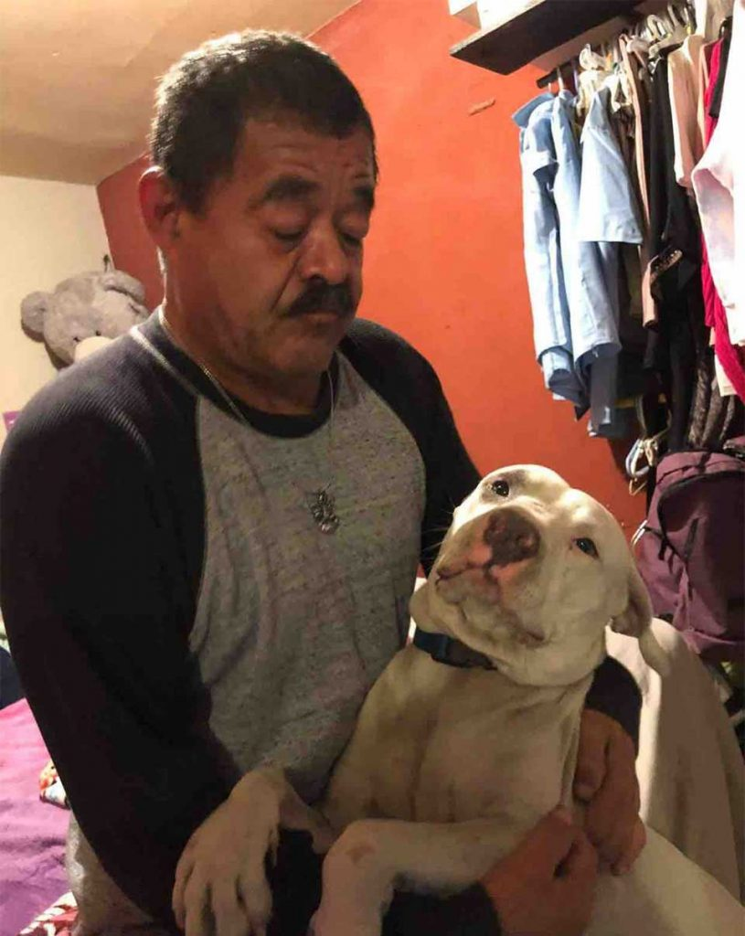 man lost everything except dog