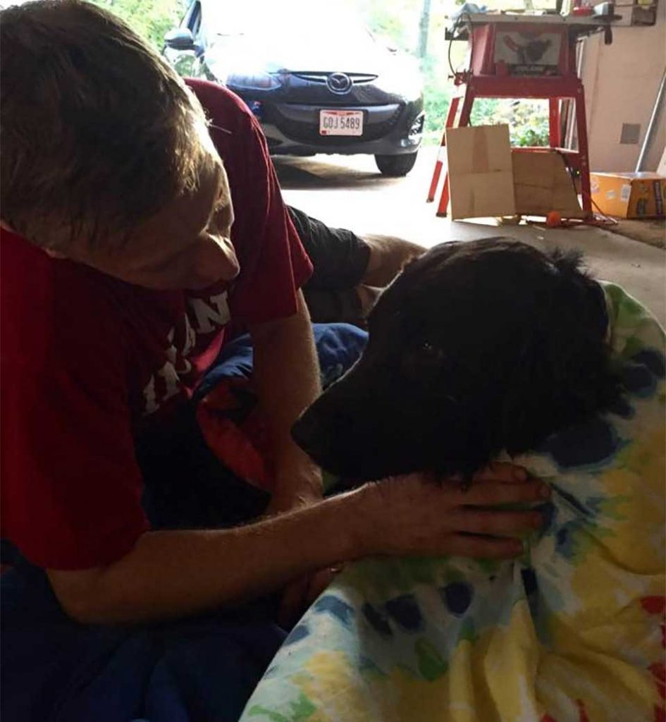 family finds lost dog trapped drain