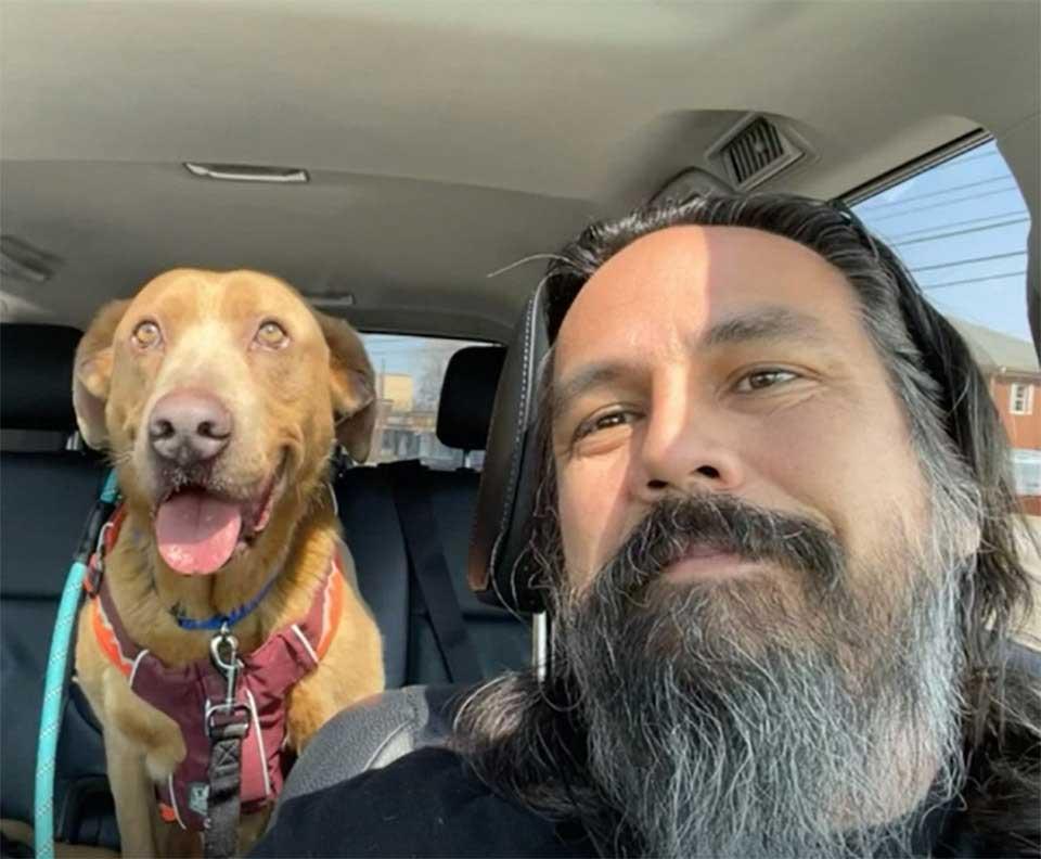 man reunites lost dog 4 years later